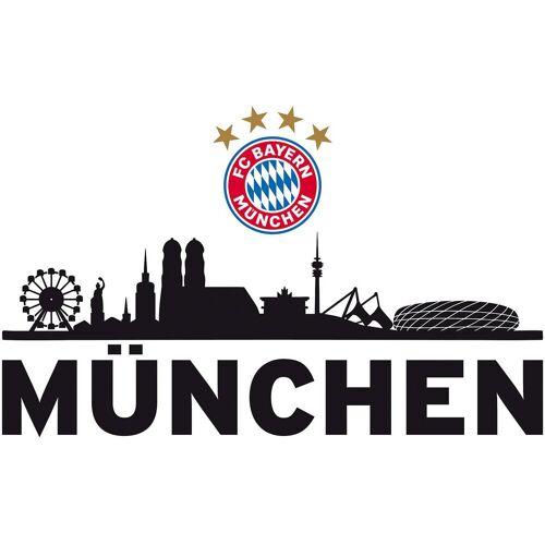 FC Bayern Wandsticker »Wandsticker FCB Skyline mit Logo, 60 x 30 cm«