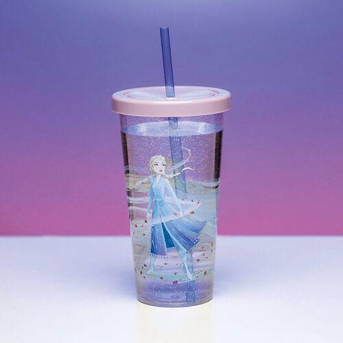 Disney Frozen Becher »Die Eiskönigin 2 Becher mit Strohhalm«