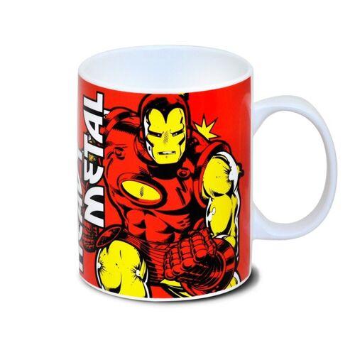LOGOSHIRT Tasse mit tollem Helden-Print »Marvel Comics - Iron Man«, rot