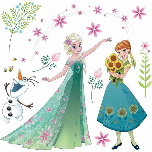 Komar Fenstersticker »Fenstersticker Disney Frozen Flower, 19-tlg.«,
