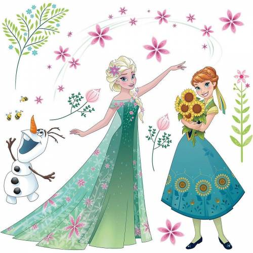 Komar Fenstersticker »Fenstersticker Disney Frozen Flower, 19-tlg.«,