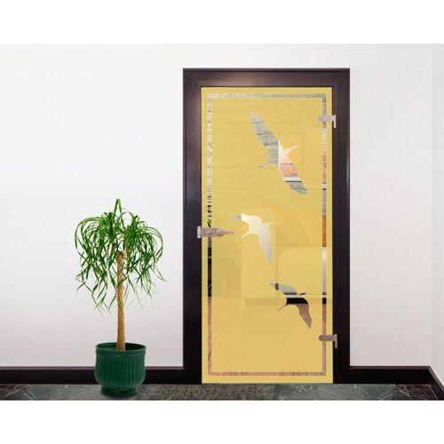 Bilderdepot24 Deco-Panel, Glasdekor Tattoo Türfolie - Vögel I - 90 x 200 cm