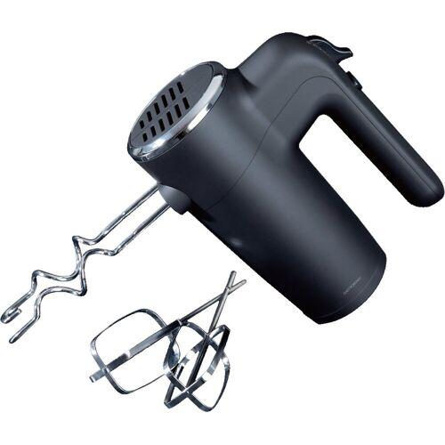 GASTRONOMA Handmixer 18200001 Handmixer Mixer 400 Watt Powerleistung mit gummierte Oberfläche Mit flexibler Zugentlastung am Kabel 400 Watt Turbo 2 Knethaken, 2 Quirle, 400 W