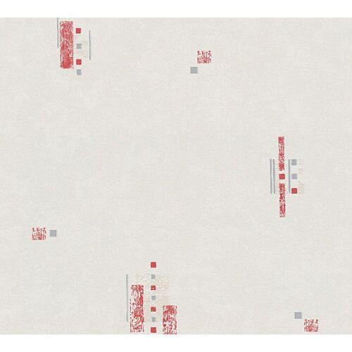 A.S. Création Vinyltapete, Küchentapete Rot Papiertapete 956171 Wandtapete Tapete modern