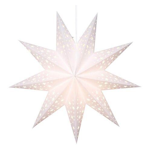 matches21 HOME & HOBBY LED-Lichterkette »Weihnachtsstern Leuchter hängend weiß Ø 45 cm«