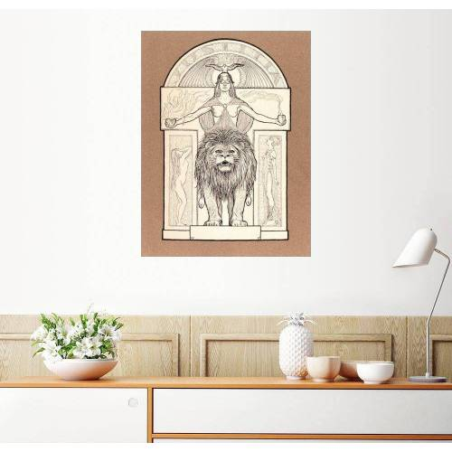 Posterlounge Wandbild, Premium-Poster Justitia
