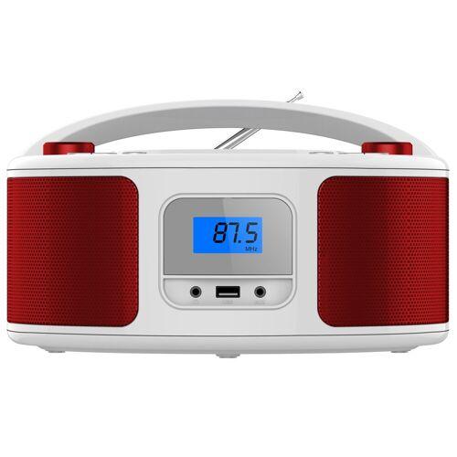 Cyberlux »CL-310« tragbarer CD-Player (CD-Player, Tragbarer CD-Player, FM Radio mit MP3 USB)