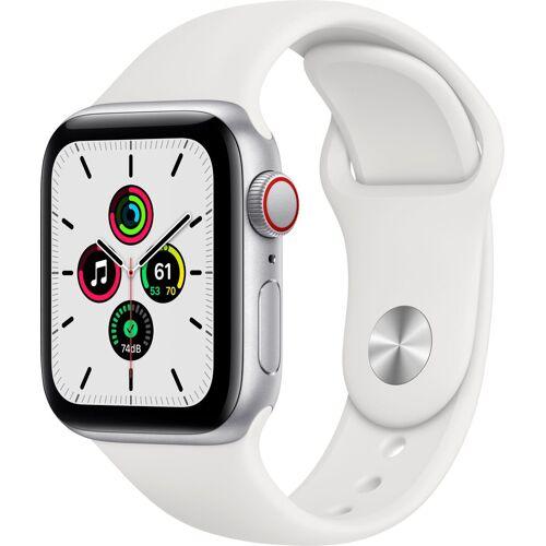Apple SE, GPS + Cellular, OLED, Touchscreen, 32 GB, 40mm Smartwatch (Watch OS 6), weiß   Silber/Weiß