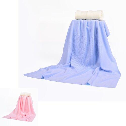Babyshoppen Babydecke »Babydecke 340«, , Größe 80 x 100 cm weiche Baby-Feinstrickdecke mit Zopfmuster, blau