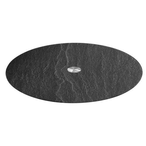 LEONARDO Servierplatte »TURN Schieferoptik 32.5 cm«, Glas