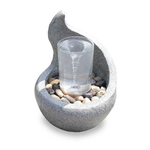 Kiom Dekoobjekt »Gartenbrunnen FoCurvo mit Wasserstrudel 42 cm«