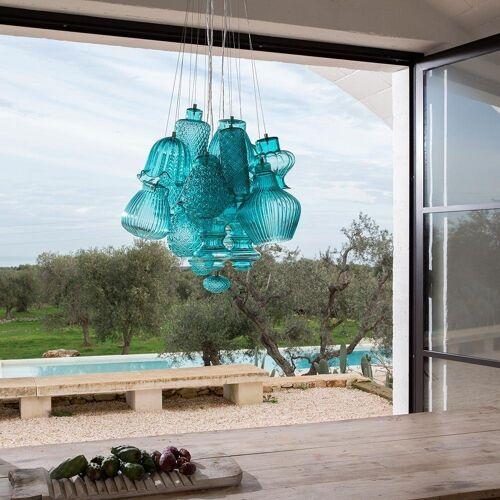 Karman Pendelleuchte »Ceraunavolta Design M«, Tiffany