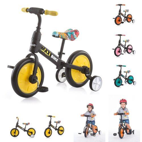 Chipolino Laufrad »Dreirad, Laufrad 2 in 1 Max Bike« 10 Zoll (25,40 cm) Zoll, 10 Zoll Räder, Pedale, Stützräder, gelb