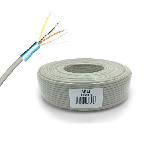 ARLI »50m Telefon Kabel 2 x 2 x 0,6 mm 4 Adern Verlegekabel J-Y(ST)Y« Installationskabel, (5000 cm), 2x2x0,6 mm Telefonkabel Sprechanlagen Klingel Anlagen Leitung