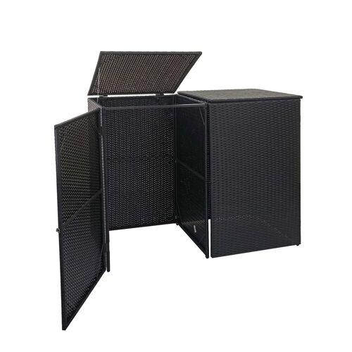 MCW Mülltrennsystem »-E25-2x1«, Garten, schwarz