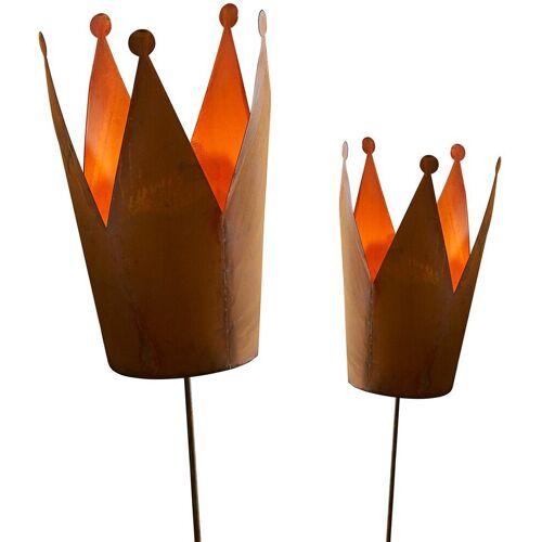Gartenstecker »Krone« (Set) für Teelichter