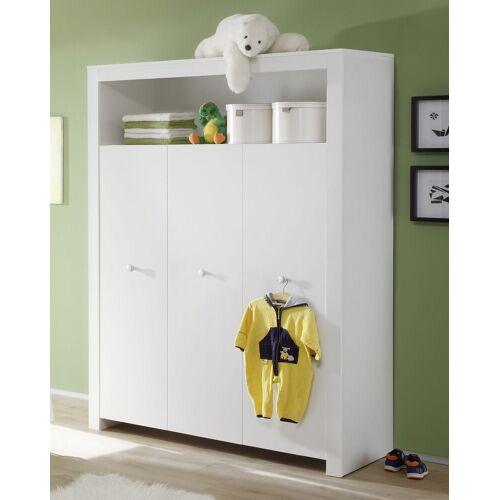 ebuy24 Kleiderschrank »Olja Kleiderschrank Kinderzimmer mit 3 Türen und 1«, weiss