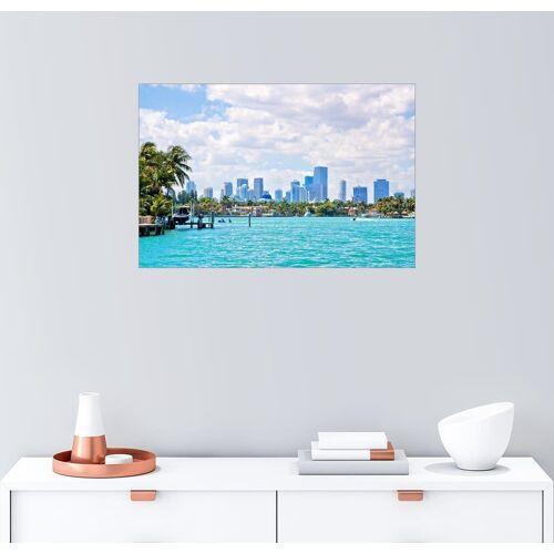 Posterlounge Wandbild, Skyline Miami