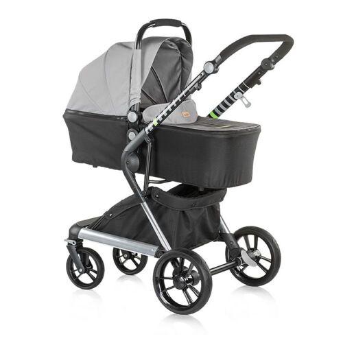 Chipolino Kombi-Kinderwagen »Kinderwagen Fusion 2 in 1«, Kollektion 2018, Sportaufsatz und Babywanne, grau