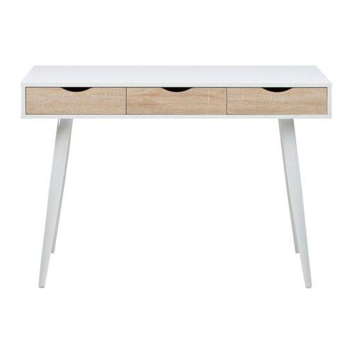 ebuy24 Schreibtisch »Nete Schreibtisch in weiß mit 3 Schubladen in Eich«