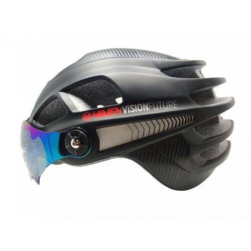 HAVEN Fahrradhelm »VISION FUTURE, Fahrrad Helm aufklappbares Visier«, Schwarz