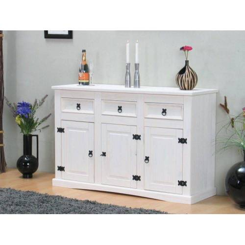 ebuy24 Sideboard »New Mexico Sideboard Breite 132 cm, Höhe 84 cm mit«, weiss