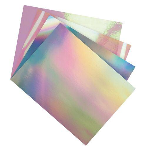 Folia Designpapier »Folienmix«, irisierend, 12 Bogen