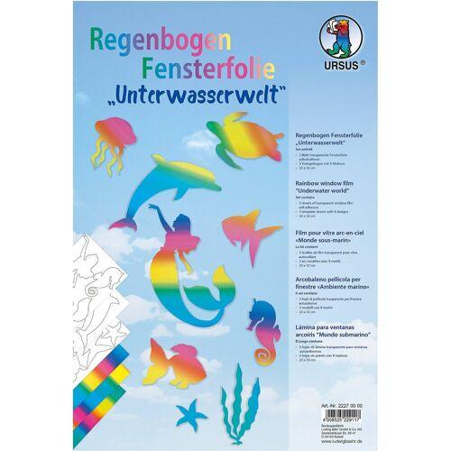URSUS Papierdekoration »Regenbogen Fensterfolie Unterwasserwelt«