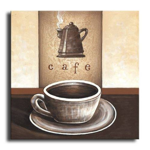 Bilderdepot24 Leinwandbild, Wandbild - Kaffee M1 - Leinwandbild 30x30 cm M07