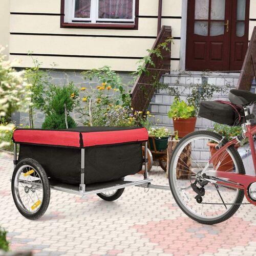 COSTWAY Fahrradlastenanhänger »Lastenanhänger Gepäckanhänger«, klappbar