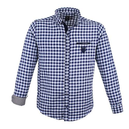 Lavecchia Hemd »Jeans-Blue-White Oberhemd in Uebergroesse«