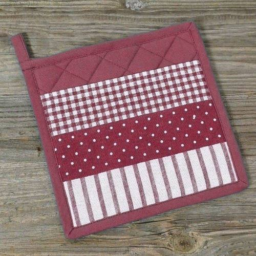 matches21 HOME & HOBBY Topflappen »Topflappen Landhaus Mustermix«, (1-tlg), rot