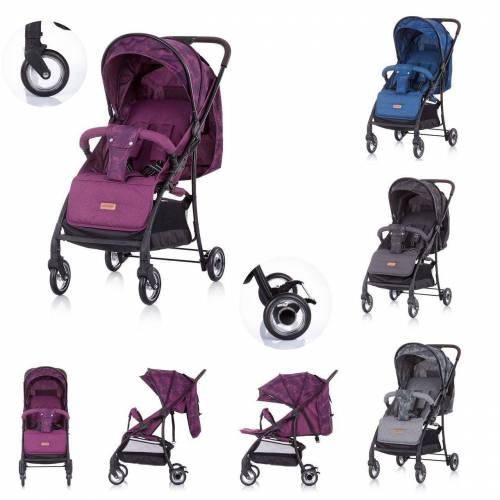 Chipolino Kinder-Buggy »Kinderwagen, Buggy Elea«, bis 15 kg, verstellbar, gefederte Vorderräder, lila