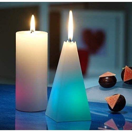 JOKA international LED-Kerze »Regenbogenkerzen Pyramide + runde 6 Stück« (6-tlg), Regenbogenkerze
