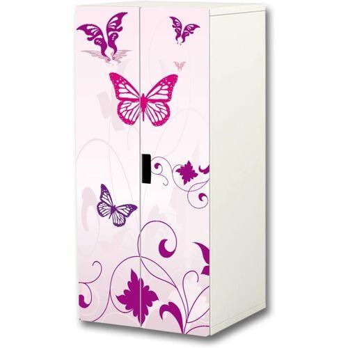 STIKKIPIX Möbelfolie »SC16«, Pink World Aufkleber-Set, SC16, passend für den Kinderzimmer Schrank STUVA von IKEA (Korpus: 60 x 128 cm), Möbel Nicht Inklusive