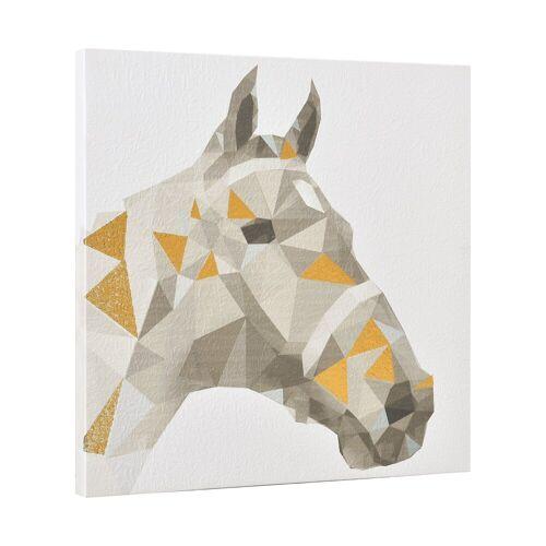 ART work Wandbild, Pferd, Druck auf Pergamentpapier 40x40 cm