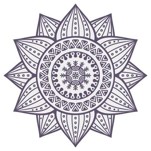 dekodino Wandtattoo »Mandala Blume mit Ornamenten« (1 Stück)
