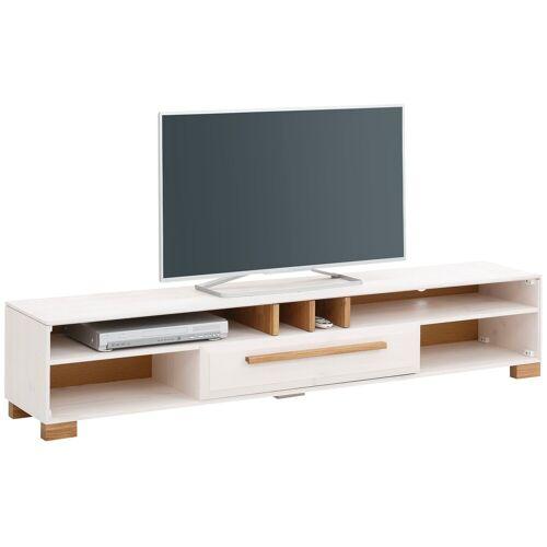 "Home affaire Lowboard »Ance«, Lowboard ""Ance"" aus Kiefer massiv, Breite 180 cm, weiß-natur"