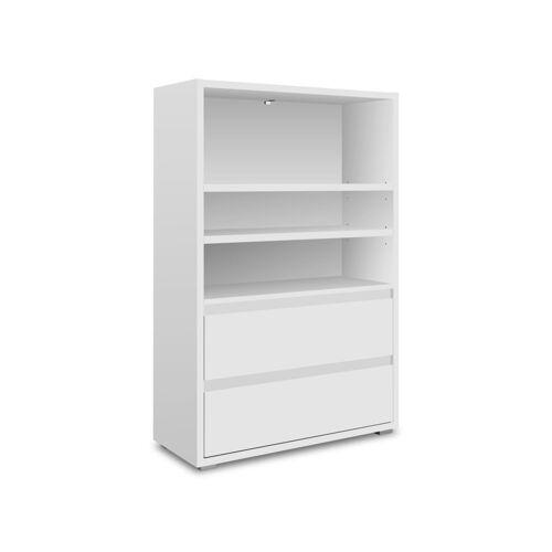 Newroom Standregal »Nikita«, Regal Weiß Raumteiler Bücherregal Wohnzimmer modern Arbeitszimmer Flur