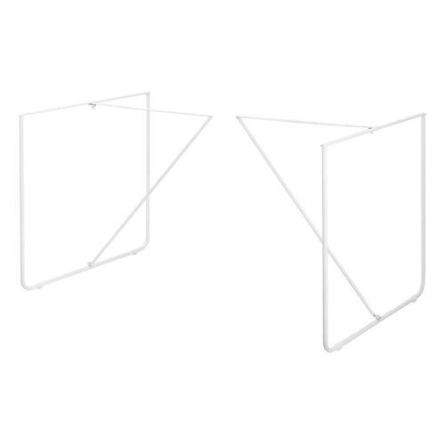 en.casa Untergestell, (2-St), 2x Tischgestell für DIY Esstisch »Makers« - Weiß - 79,5x62x73cm, weiß