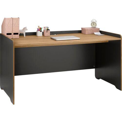 """Places of Style Schreibtisch »Ergil«, Schreibtisch """"Ergil"""", Breite 161 cm, schwarzer graphit-eiche sonoma"""