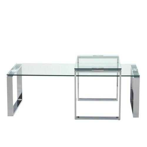 ebuy24 Couchtisch »Kamma Couchtisch mit extra Tisch aus klaren Glas.«