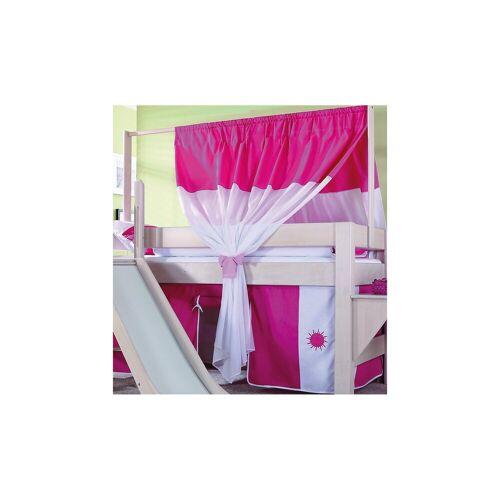 Relita Zeltstoffset für Spielbett LEO, pink/weiß, pink