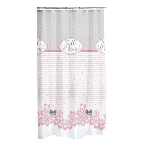 dynamic24 Duschvorhang Breite 180 cm, Textil Wannenvorhang Motiv Charme 180x200 Dusche Vorhang Badewannenvorhang