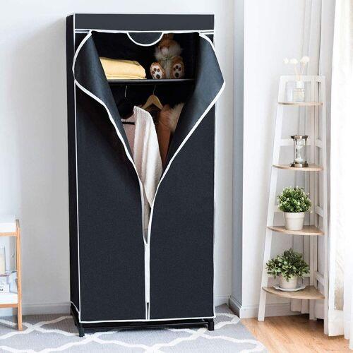 COSTWAY Kleiderschrank »Faltschrank Textilschrank Stoffkleiderschrank«, schwarz