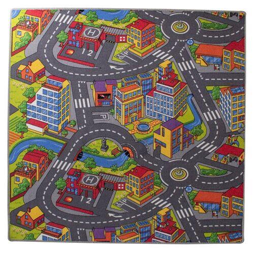 Mr. Ghorbani Teppich »Spielstraße London 200 x 100 cm«, , Rechteckig, Höhe 5 mm