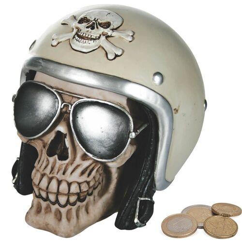 matches21 HOME & HOBBY Spardose »Spardose Totenkopf Motorradhelm Helm Sparbüchse Poly«
