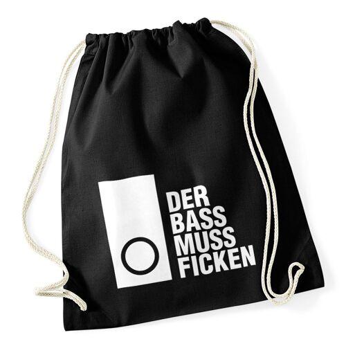 MoonWorks Turnbeutel »Turnbeutel Techno Spruch - Der Bass muss Ficken - Party Festival Rave ®«