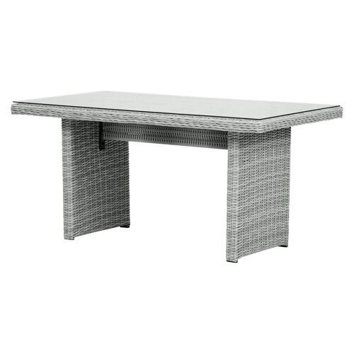 ebuy24 Gartentisch »Vinor Gartentisch 141,5 x 76 cm, mit Glasplatte, s«