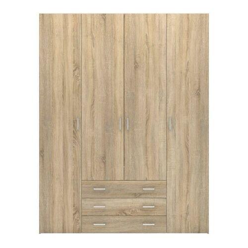 ebuy24 Kleiderschrank »Spell Kleiderschrank 4 Türen und 3 Schubladen. Eic«